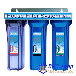 Bộ lọc nước sinh hoạt 3 cấp lọc 10 inch (1 xanh trong – 2 xanh)