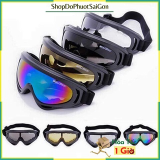 Kính phượt UV X400 chống nắng chống mưa đi phượt gắn mũ 3/4 và mũ 1/2