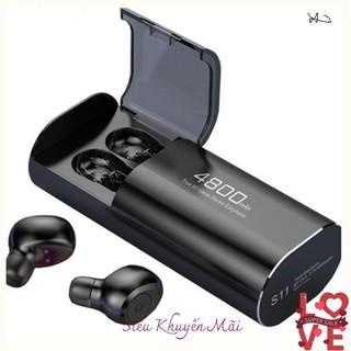 Tai nghe Bluetooth Không Dây Nhét Tai Kiêm Sạc Dự Phòng Amoi S11 TWS Nâng Cấp Hơn i7, i9, i12, F9, F9 Pro spring_shop01