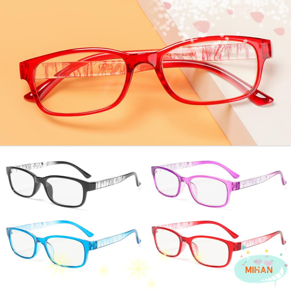 MIHAN1 With Diopter Reading Glasses Reduces Eye Strain Hyperopia Eyewear Presbyopia Eyeglasses +1.0~+4.0 High-definition PC AC Resin Lens Spectacle Frames/Multicolor