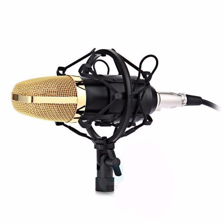 Combo Micro thu âm bm800 kèm sound card K10,chân kẹp,màng lọc,dây livetream tặng tai nghe jm26