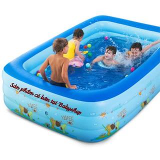 Bể Bơi 3 Tầng 1M40 – 2M10 Cỡ Lớn Cho Bé và Gia Đình