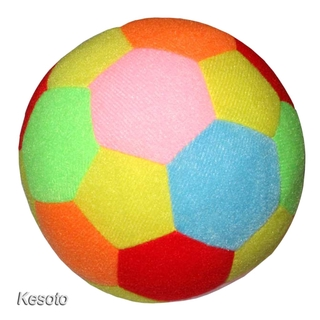 [KESOTO] Soft Sports Soccer Ball Football Rattle Toy Indoor Outdoor Kid Toys Colorful