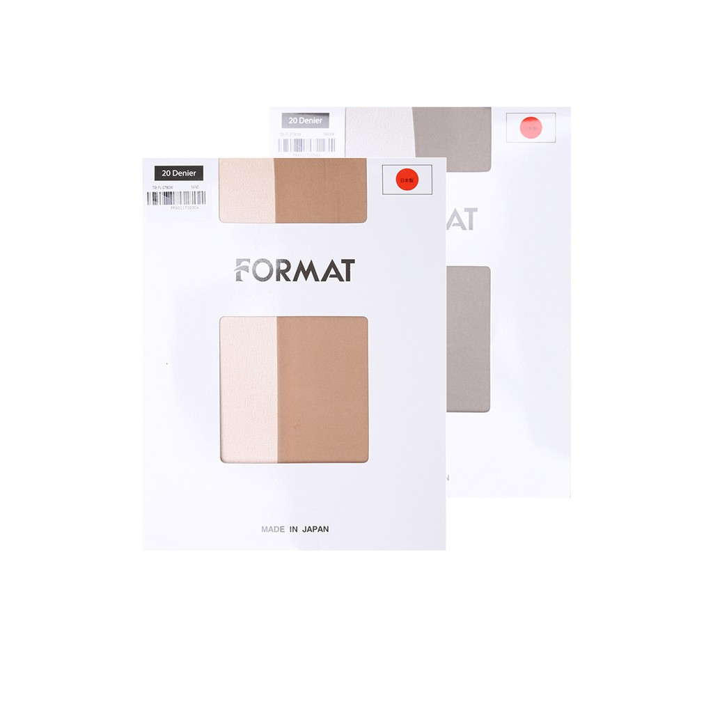 Combo 02 quần tất cao cấp Format L-0780W màu da và xám
