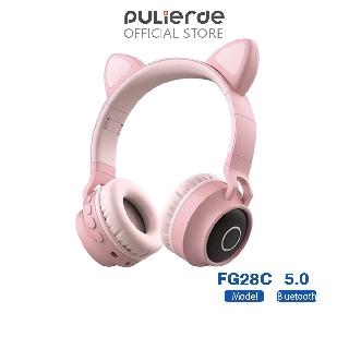 Tai nghe Mèo Bluetooth 5.0 không dây PULIERDE FG28C có đèn LED
