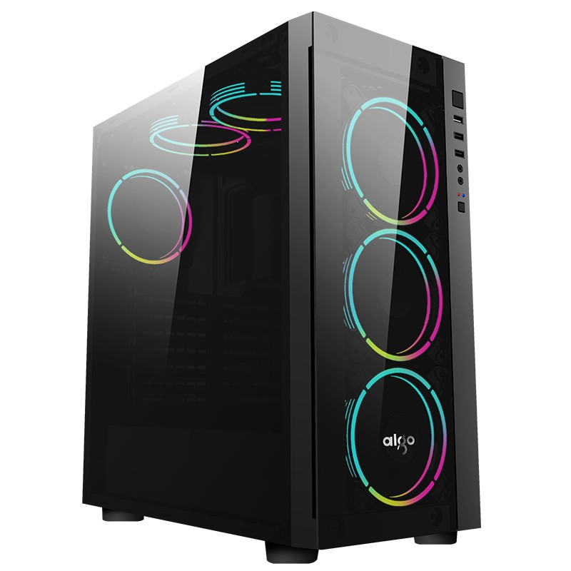 Case AIGO BLACK TECHNOLOGY (TEMPERED GLASS)