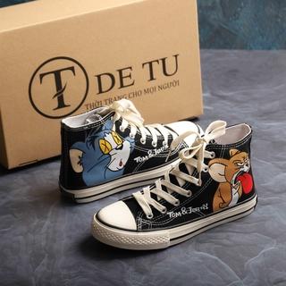 Giày Sneaker Vải Nữ DETU GT3 Họa Tiết Tom&Jerry Đáng Yêu thumbnail