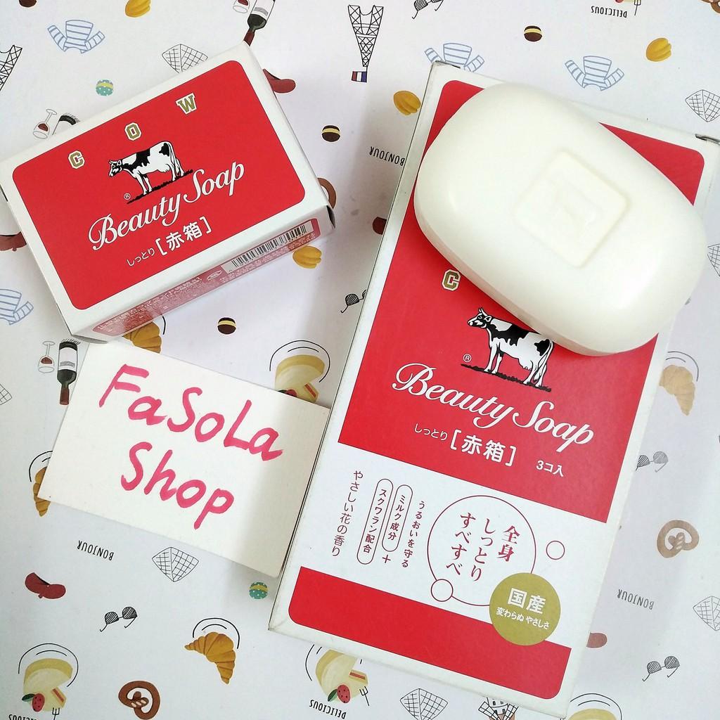 Xà phòng con bò COW BEAUTY SOAP 100g Nhật Bản 🇯🇵 xà bông tắm nội địa Japan