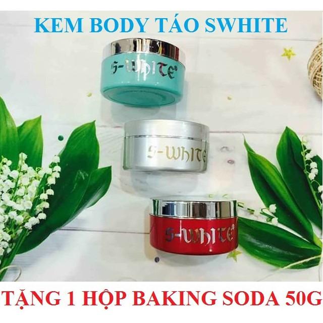 Kem dưỡng trắng da toàn thân táo Swhite 200g + Tặng kèm 1 hộp tẩy trắng răng Baking Soda 50g trị giá - 3406540 , 978498217 , 322_978498217 , 280000 , Kem-duong-trang-da-toan-than-tao-Swhite-200g-Tang-kem-1-hop-tay-trang-rang-Baking-Soda-50g-tri-gia-322_978498217 , shopee.vn , Kem dưỡng trắng da toàn thân táo Swhite 200g + Tặng kèm 1 hộp tẩy trắng răng