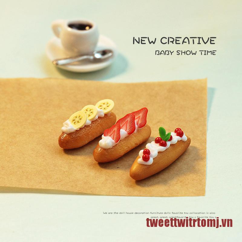 TOMJ 1Pcs 1:12 Breakfast Snack Dessert Toys Dollhouse Miniature Simulation Bread