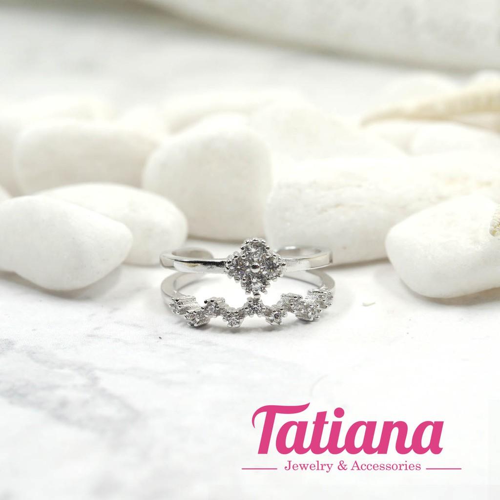NHẪN BẠC LOVELY FLORA - TATIANA - N2336 (BẠC)
