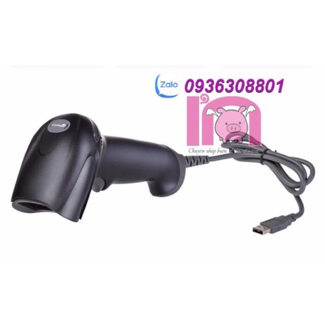 ivn022 máy đọc quét mã vạch NTEUMM F5 có dây laser 1D máy tích mã vạch + giá đỡ chân đế máy quét Giá chỉ 250.000₫