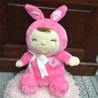 Bé coslay thỏ hồng lông xù siêu xinh