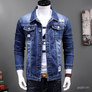 Áo Khoác Jeans Thời Trang Dành Cho Nam 4gz7