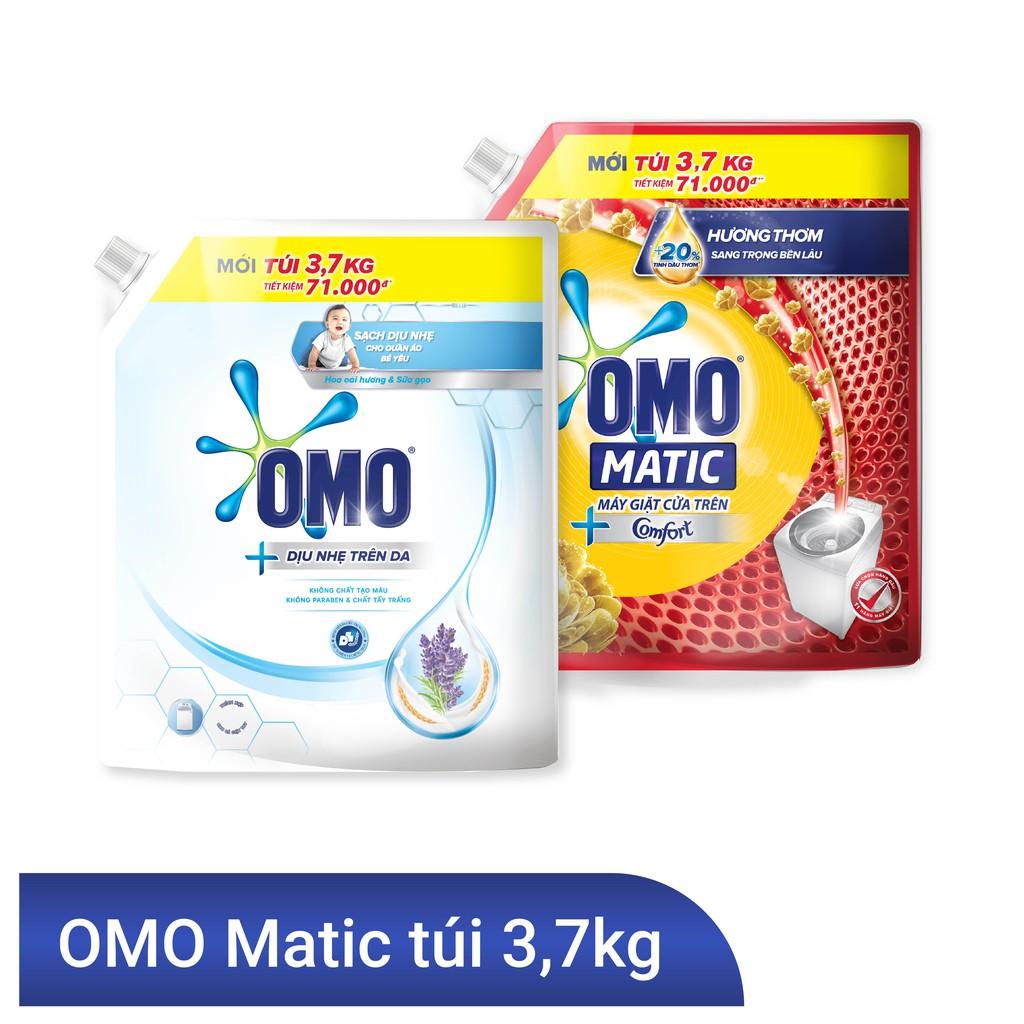 Hình ảnh Nước giặt OMO Matic 3,7kg (Túi)-0