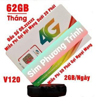 {FREE 30 NGÀY}Sim 4G Viettel gói V120 60GB/Tháng {2GB/Ngày} miễn phí gọi nội mạng