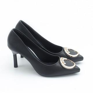 Giày Cao Gót 7cm Gắn Khóa Tròn Pixie P273