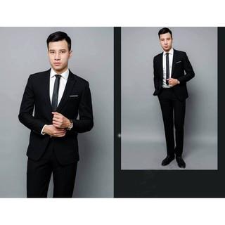 Bộ vest công sở cao cấp - màu đen ( Vest + quần )
