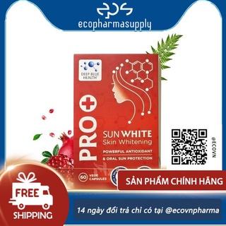 Viên uống chống nắng trắng da pro sun white new zealand 60 viên thumbnail