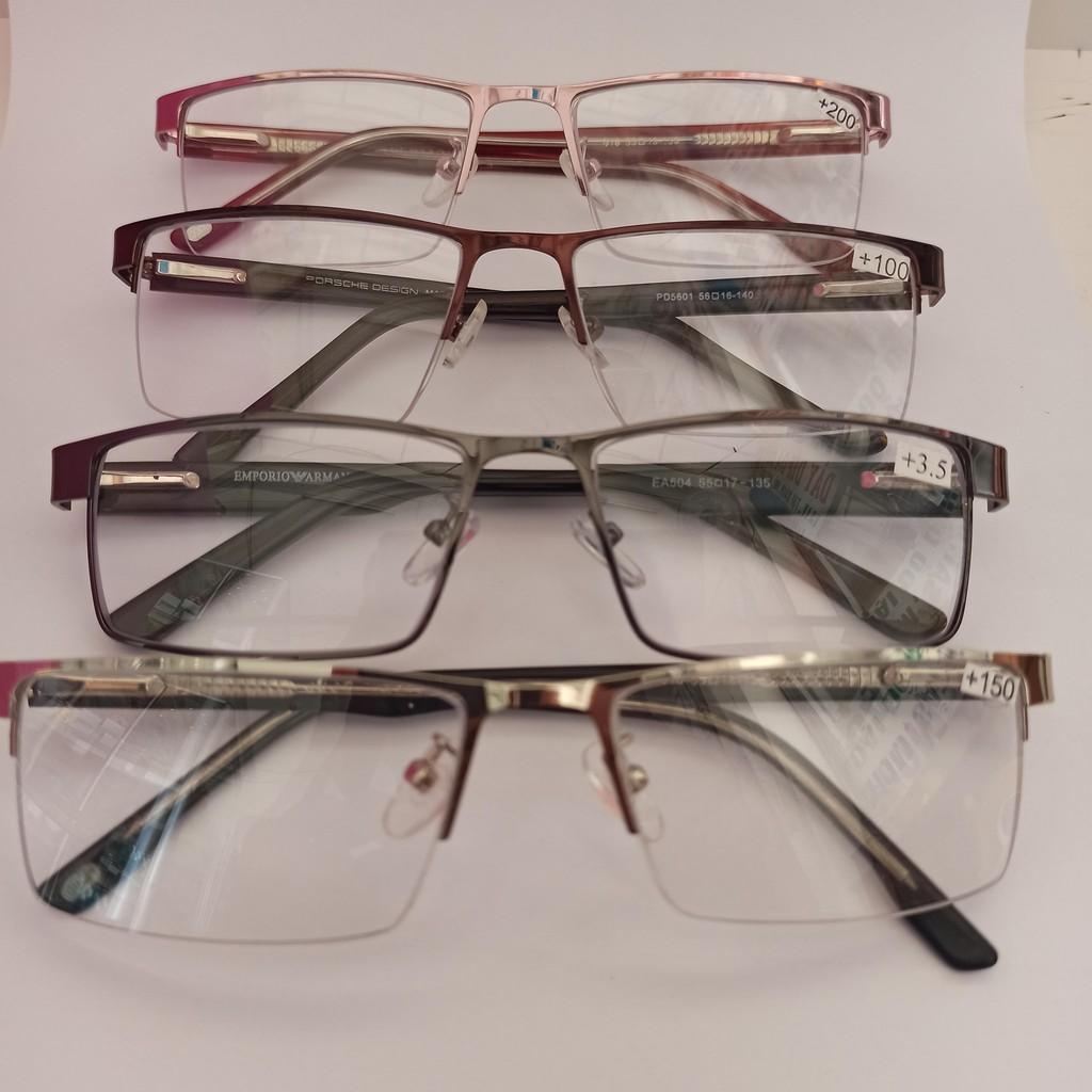 kính lão nửa viền cước gọng kính nhập khẩu tròng meka loại 1
