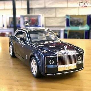 Xe mô hình ô tô siêu xe Roll Royce Sweptail tỉ lệ 1/24 hãng XLG màu xanh đen