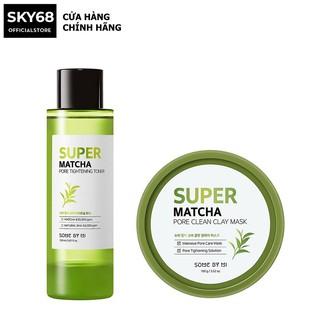 Combo Dưỡng Da Làm Sạch, Se Khít Lỗ Chân Lông Some By Mi Super Matcha Pore (Tightening Toner 150ml+Clean Clay Mask 100g) thumbnail