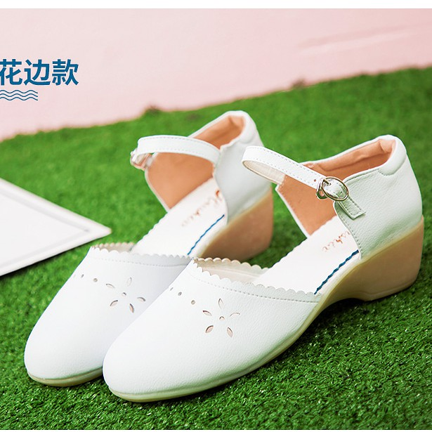 Giày y tá trắng- Giày nữ thu đông- Giày nữ Hàn Quốc mới- Giày đế mềm- Giày chống trượt- Giày phẫu thuật- Giày đế cao