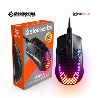 Chuột chơi game Steelseries AEROX 3 Wired 8500 CPI thumbnail