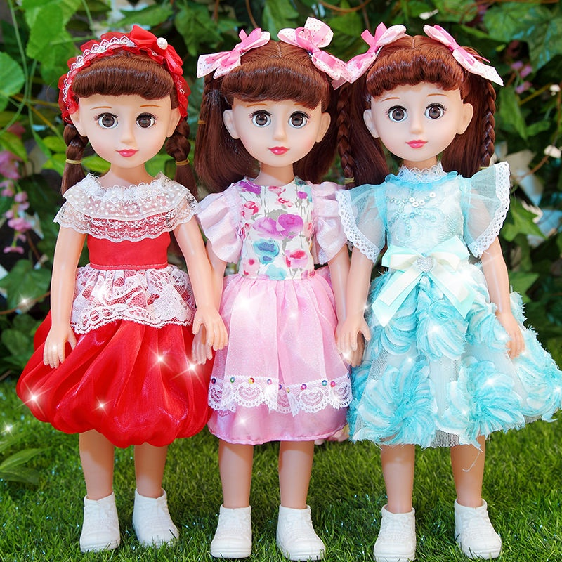 Talking Smart Light Baby Barbie Doll Set Baby Simulated Doll Cloth Little Princess Girl Children's Toys