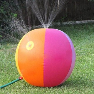 75cm Inflatable Water Spray Ball Balloon Garden Beach Ball Summer Water Play Toy