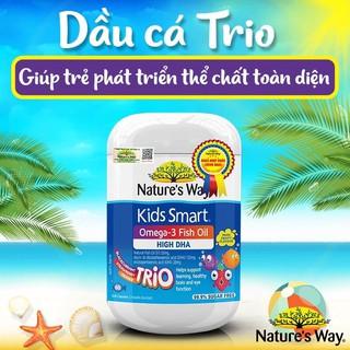 Nature's Way Kids Smart DHA Trio vị trái cây bổ sung vitamin và DHA cho bé phát triển toàn diện