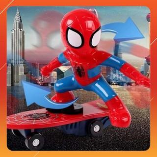 [Giá Rẻ Nhất] Đồ chơi người nhện trượt ván cho bé tặng 1 máy bay xốp siêu hót