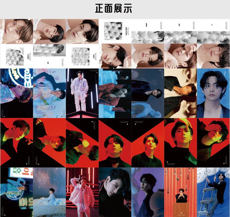 Set 55 Tấm Thẻ In Hình Thành Viên Nhóm Nhạc Bts