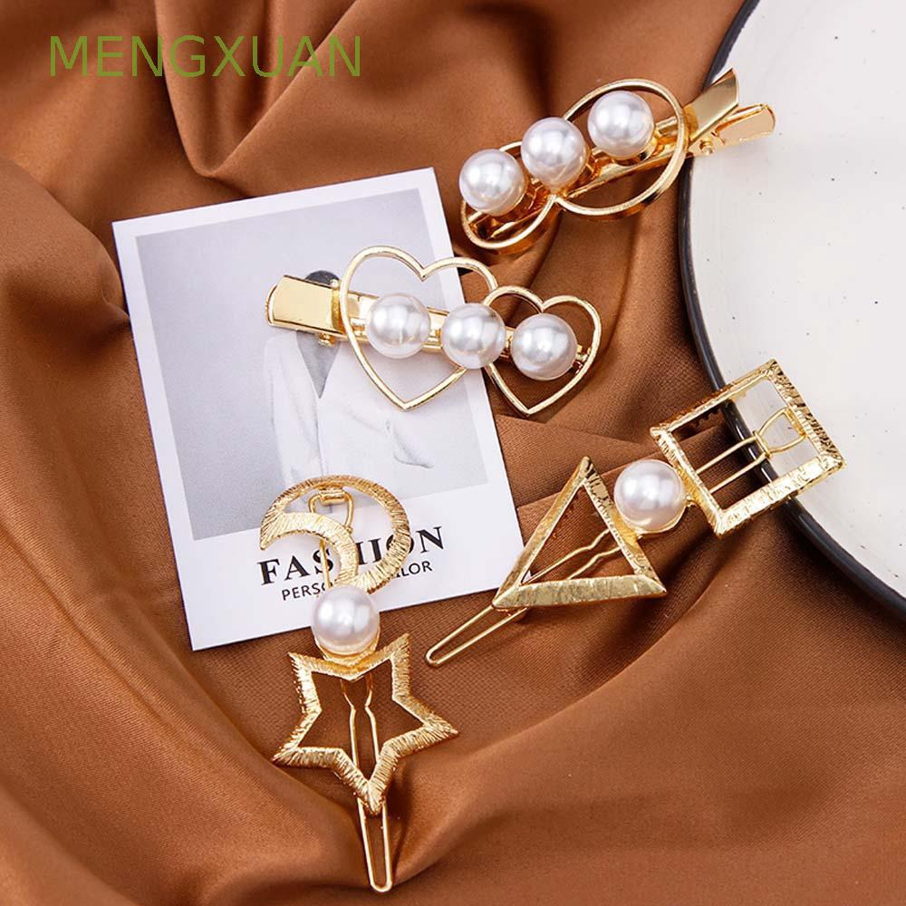 MENGXUAN Korean Style Women Girls Pearl Fashion Hairpins