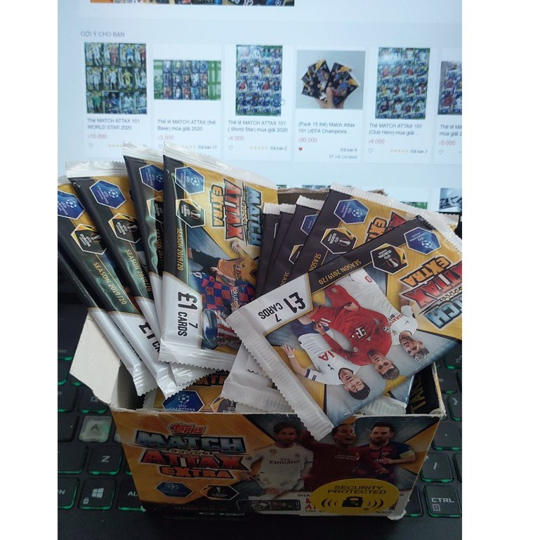 (Pack 7 thẻ) Match Attax EXTRA UEFA Champions Leagues 2019/20