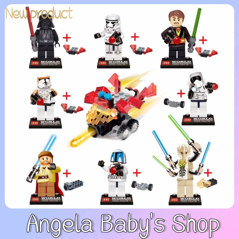 JR763 Star Wars Stormtrooper Black Warrior Blocks Dolls 7th Generation 8 in 1 Chariots Hot Sale