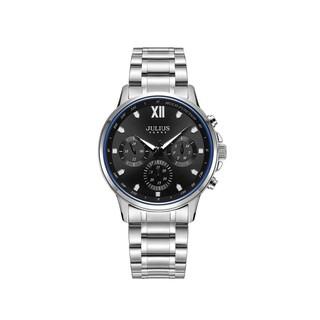 Đồng hồ nam JAH-113C Julius Home Hàn Quốc dây thép bạc (đen)
