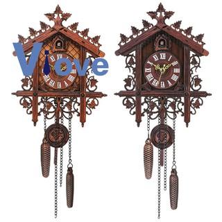 Vintage Wood Cuckoo Wall Clock Hanging Handcraft Clock For Home Restaurant Decoration Art Vintage Swing Living Room #1