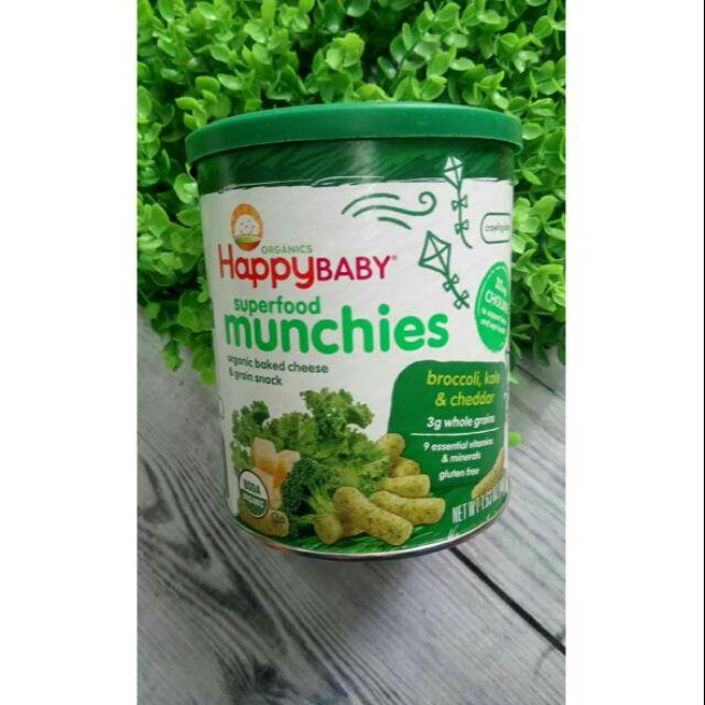 Bánh ăn dặm Organic Munchies HappyBaby