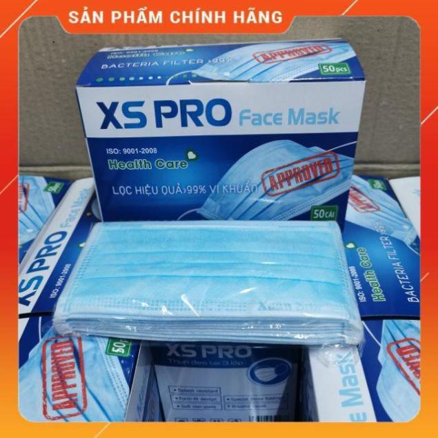 Khẩu trang y tế XSPro - XANH - ĐEN - Khẩu trang chuẩn y tế 4 lớp