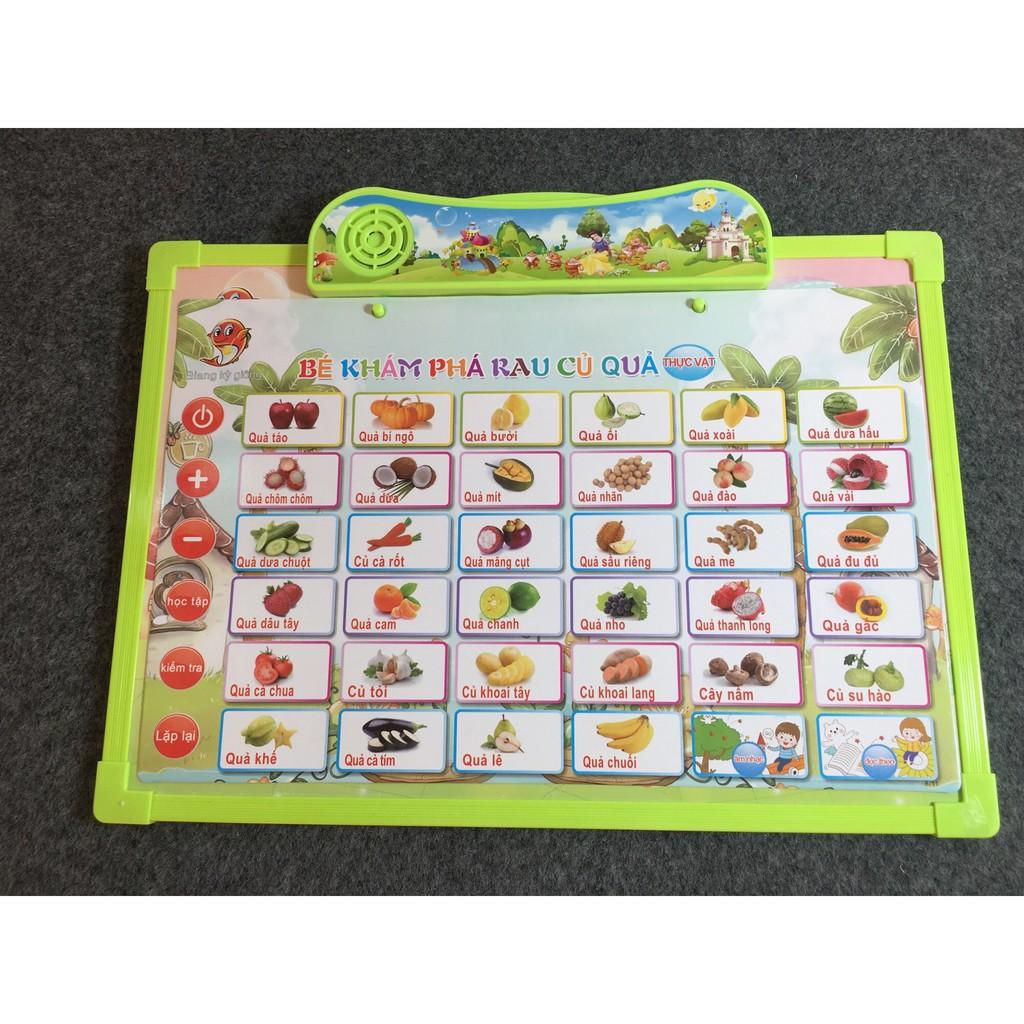 Đồ chơi bảng nói song ngữ Anh Việt 6 lĩnh vực cho bé học tập Jika Store