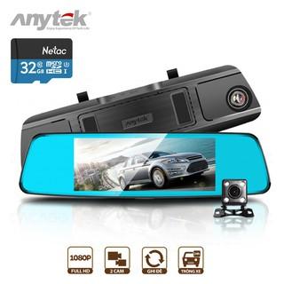 Yêu ThíchCamera Hành trình ô tô Anytek T77 Full HD (1920*1080P) - Cam gương, màn hình 7 inch cảm ứng, Quay 2 mắt trước sau