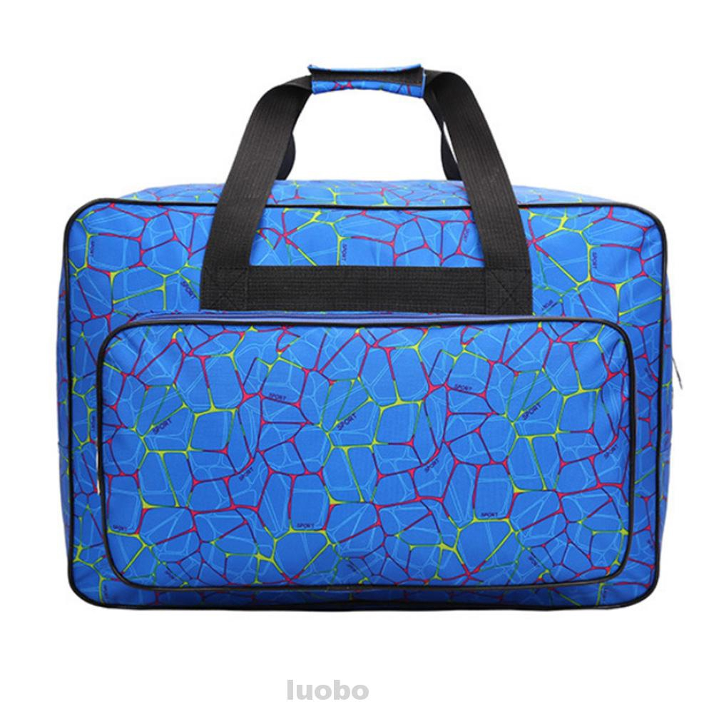 Durable Home Large Capacity Multifunctional Nylon Portable Printed Unisex Storage Sewing Machine Tote