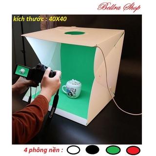 Hộp Chụp Ảnh Studio 2 Phông Nền 40 40 40 CM - Hộp Mini Gấp Gọn Tiện Lợi thumbnail