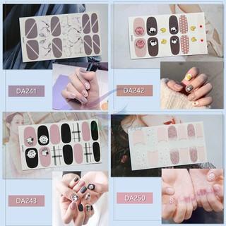 Bộ nail sticker 14 miếng dán móng tay trang trí 3D DA241-DA260 xinh xắn chống thấm nước thumbnail