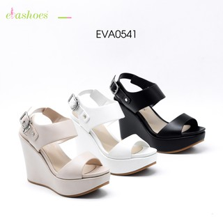 Sandal Đế Xuồng Quai Ngang Da Tổng Hợp 12cm Evashoes – Eva0541