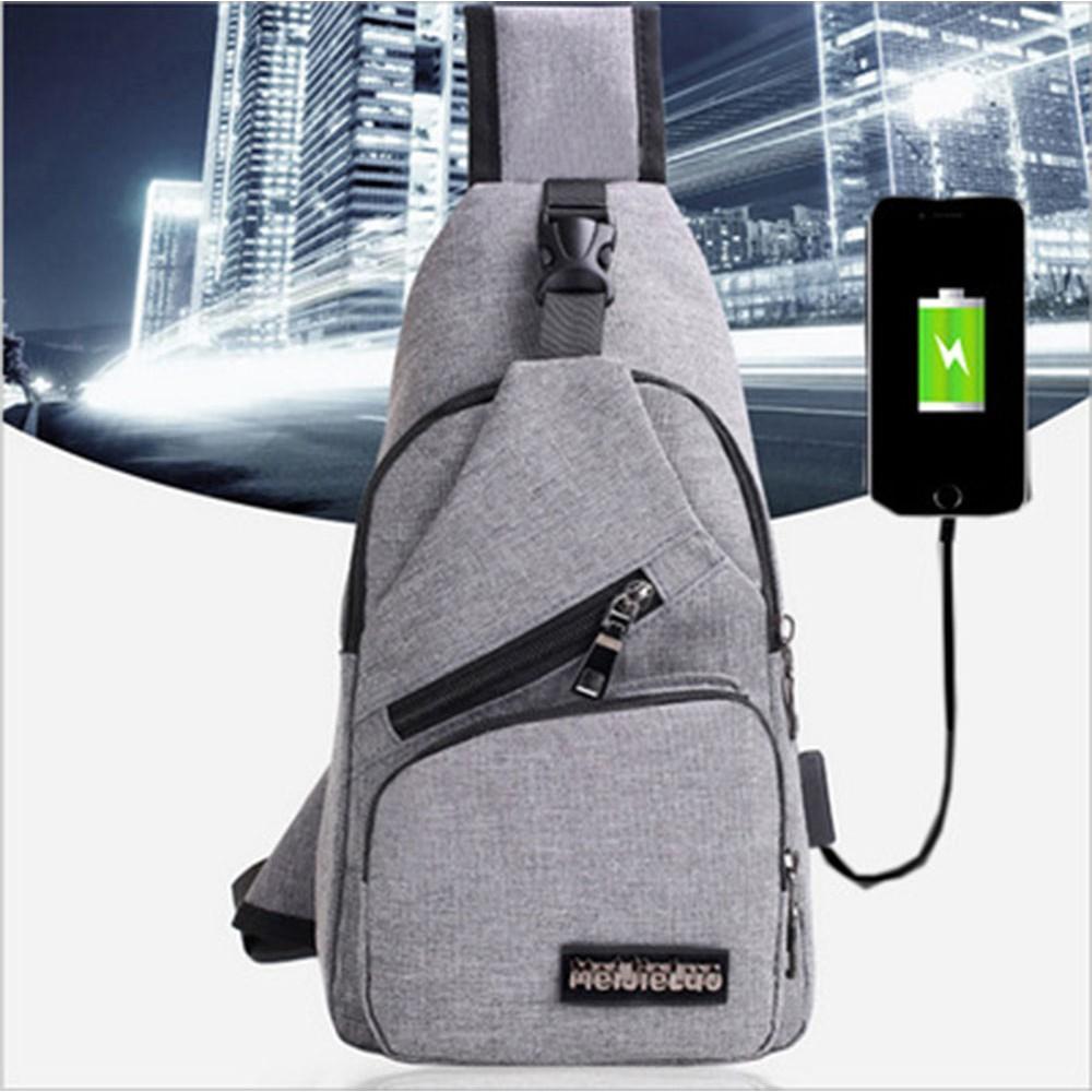 Túi đeo trước ngực nam và nữ Korian kèm dây cắm USB - RiBi Shop