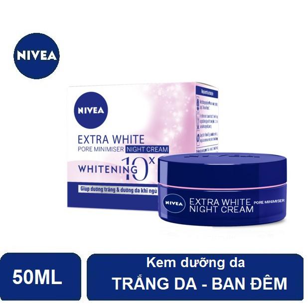 Kem dưỡng trắng da & se khít lỗ chân lông Nivea ban đêm (50ml) - 86740