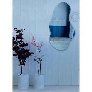 Gương soi toàn thân Gương soi nhà tắm Gương nhà tắm Gương trang điểm Gương hạt đậu Vintage HD size nhỏ 45*80cm