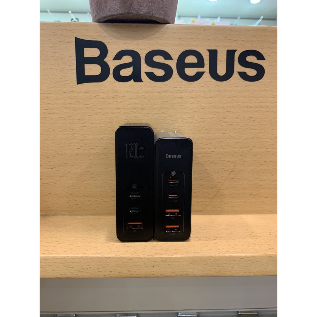 Củ sạc nhanh Baseus GaN Pro 2C1U 120W PD cho Smartphone/ Tablet/ Macbook (USB C QC4.0 QC3.0)